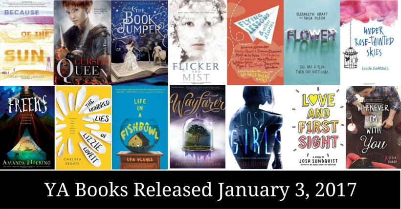 YA Books Released January 3, 2017